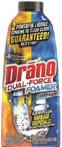 Drano Dual Force Foamer Drain Cleaner, 17 Oz