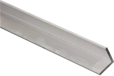 "Aluminum Angle, 1"" x 1/16"" x 48"", Mill Finish"