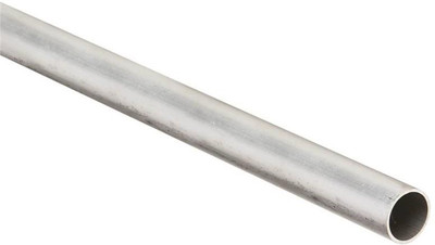 "Aluminum Round Tube, 1"" x 1/16"" x 96"", Mill Finish"