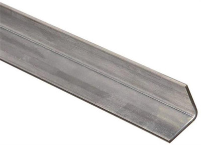 "Steel Angle Bar, 1-1/4"" x 48"" x 11 Ga, Zinc Plated"
