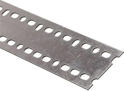 "Steel Flat Bar With Slots, 2-3/16"" x 48"" x 14 Ga"