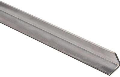 "Steel Angle Bar, 1"" x 48"" x 11 Ga, Zinc Plated"