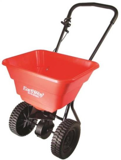 Broadcast Spreader, 80 LB Hopper, Plasatic Wheels