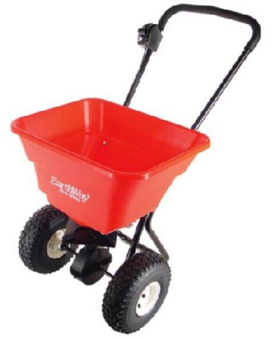 Broadcast Spreader 80 Lb Hopper, Pneumatic Wheels