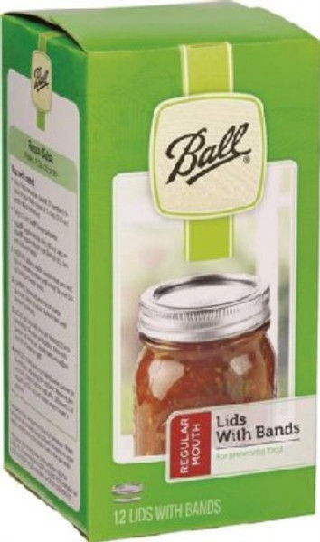 Ball, Canning Lids & Bands, Regular Mouth, 12 Pack