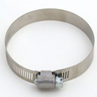 "Hose Clamp SS, # 48, 1-5/8"" - 3-1/2"", With Carbon Screw"