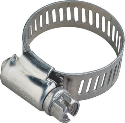 "Hose Clamp SS, # 16, 13/16"" -  1-1/2"", With Carbon Screw"