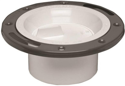 "Closet Flange, 3"" - 4"", PVC With Steel Flange, With Test Cap"