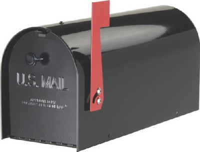 Rural Mailbox, Heavy Duty, Black
