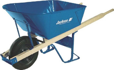 Wheelbarrow, Jackson, 6 Cubic Ft.