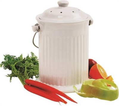Compost Keeper Ceramic Crock