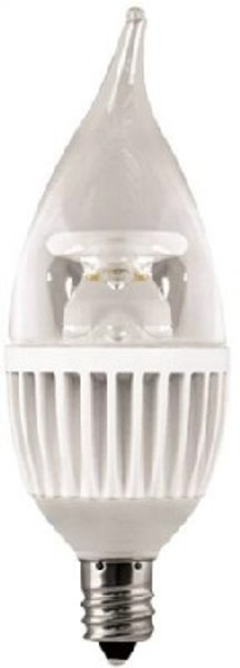 LED, Candelabra Flame Tip Lamp, Dimmable,  7.5 Watt, 500 Lumens