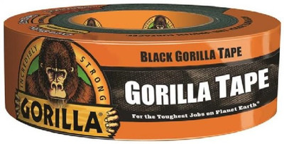 "Gorilla Tape 1.88"" X 35 Yds Black, Heavy Duty Reinforced Duct Tape"