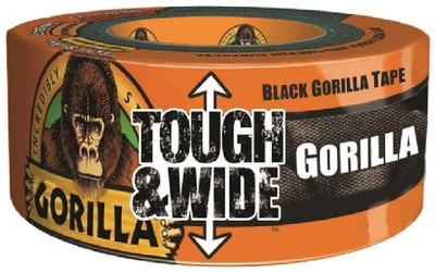 "Gorilla Tape 2.88"" X 30 Yds Black, Heavy Duty Reinforced Duct Tape"