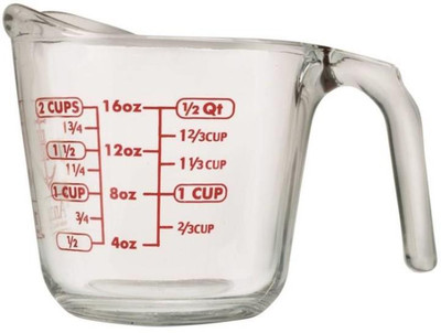 Measure Cup, 2 Cup, Glass