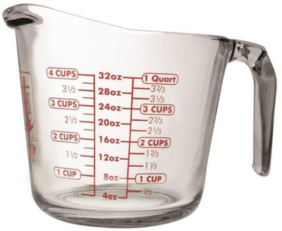 Measure Cup, 4 Cup, Glass