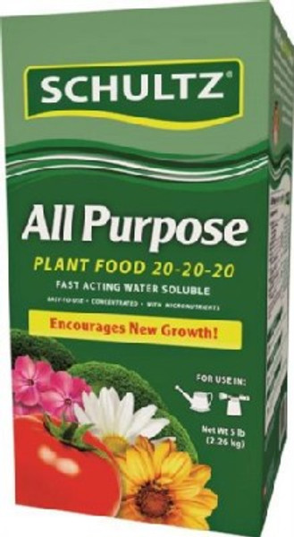 Plant Food, 20-20-20, 5 Lb