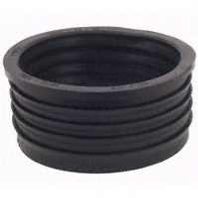 "Fernco 4"" X 4"" Cast Iron To PVC Donut Fitting"