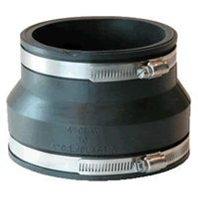 "Fernco 4"" Clay To 4"" PVC/Steel Coupling"