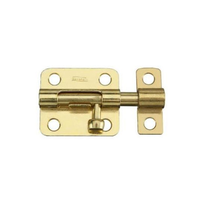 Barrel Bolt, 5/16 in x 2-1/2 in, Steel, Satin Brass Tone