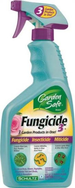 Garden Safe 3 in 1 Fungicide Pump Spray, 24 Oz