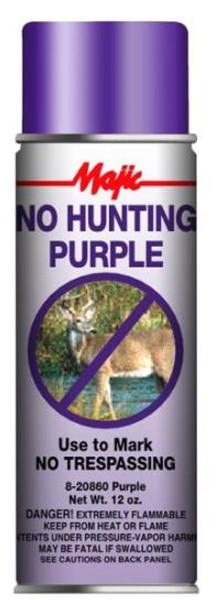 No Hunting Purple Spray Paint