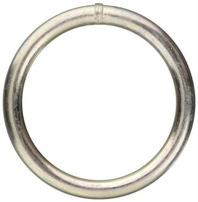 "Welded Ring, Steel, Zinc Plated, 2"""