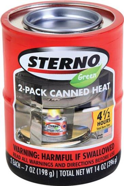 Sterno Canned Heat Model 4002, 7 Oz, 2 Pack