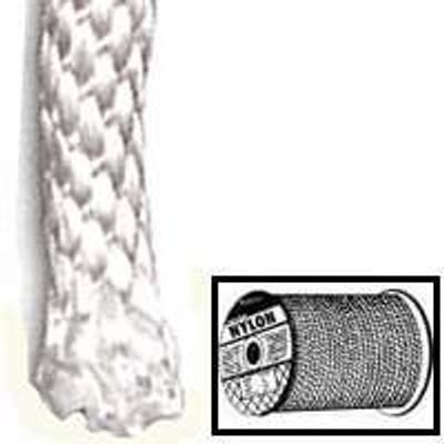 "1/8"" x 1' Braided Nylon Rope Per Foot"