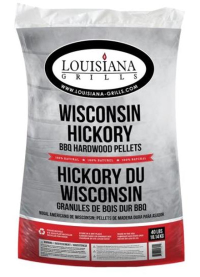 Smoking Wood Pellets, Hickory, 40 Lb