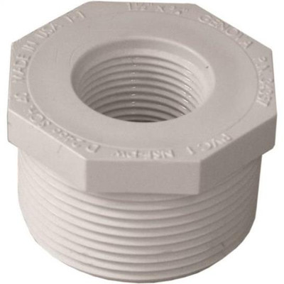 "1-1/2"" x 3/4"" SCH 40, PVC Threaded Bushing"
