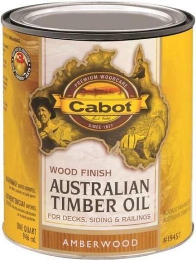 Cabot, Australian Timber Oil, Amberwood, Quart