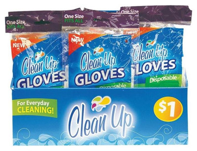 Latex Gloves, 8 Pack, One Size Fits All