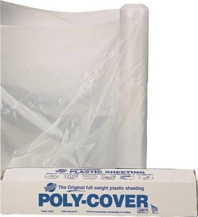 Plastic Sheeting, 4 mil, 10' x 100', Clearl