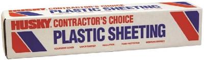 Plastic Sheeting, 4 mil, 4' x100', Clear