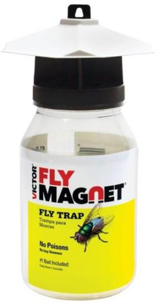 Fly Magnet Jar, With Bait