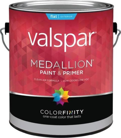Medallion, 45501, Gallon, Exterior White, 100% Arylic Paint & Prime