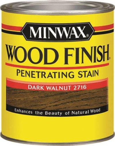 Minwax, Dark Walnut, Wood Stain, Quart