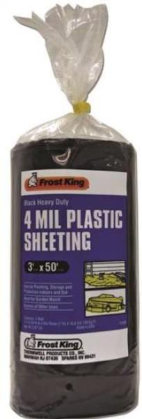 Plastic Sheeting 4M 3' X  50' 4M Black