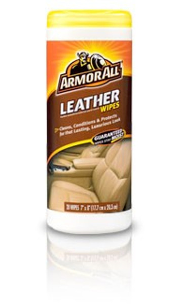 ArmorAll, Leather Wipes, 20 Pack Dispenser