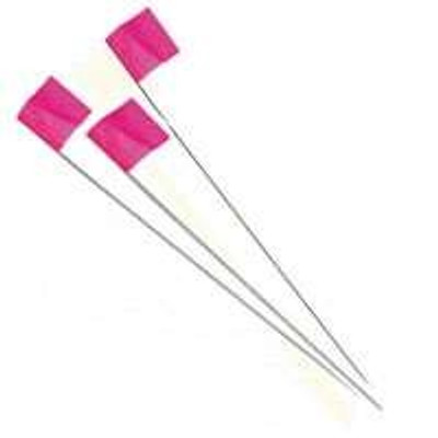 """Stake Flag, Pink, 2.5"""" x 3.5"""", With 21"""" Stake"""