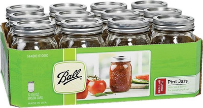 Ball, Canning Jar, Decorative, Pint, 12 Pack