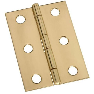 "Butt Hinge, Solid Brass, 2-1/2"" x 1-3/4"", 2 Pack, With Screws"