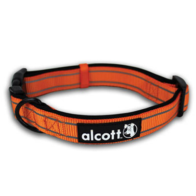 "Dog Collar, Neon Orange, Med, 14"" - 20"""