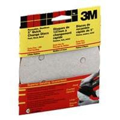 """3M, 5"""" Hook & Loop Sanding Disc, 5 Hole, 120 Grit, 5 Pack"""