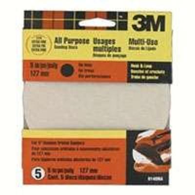 """3M, 5"""" Hook & Loop Sanding Disc, 220 Grit, 5 Pack"""