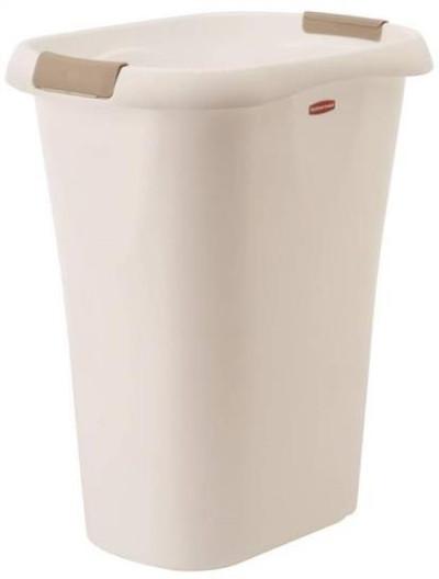 Trash Can, Kitchen, Open Top, 32 Quart, White