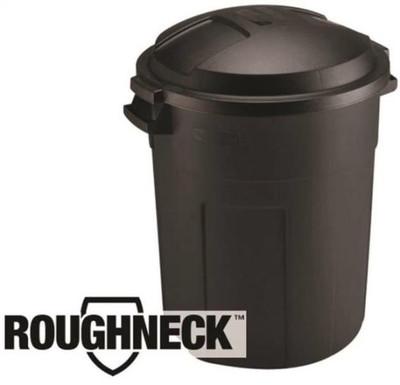Trash Can, 20 Gallon, Plastic, With Lid, Moca