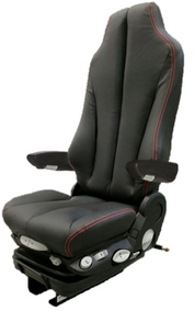 GraMag BLACK/RED STITCH SYN LEATHER SELECT SEAT
