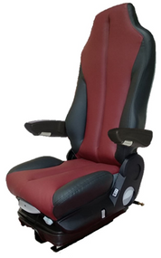 GraMag BURGUNDY BLACK SYN LEATHER STANDARD SEAT